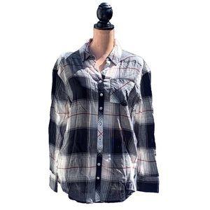 ☀️4/25 NWT Girl Krazy Plaid Shirt w/Pockets
